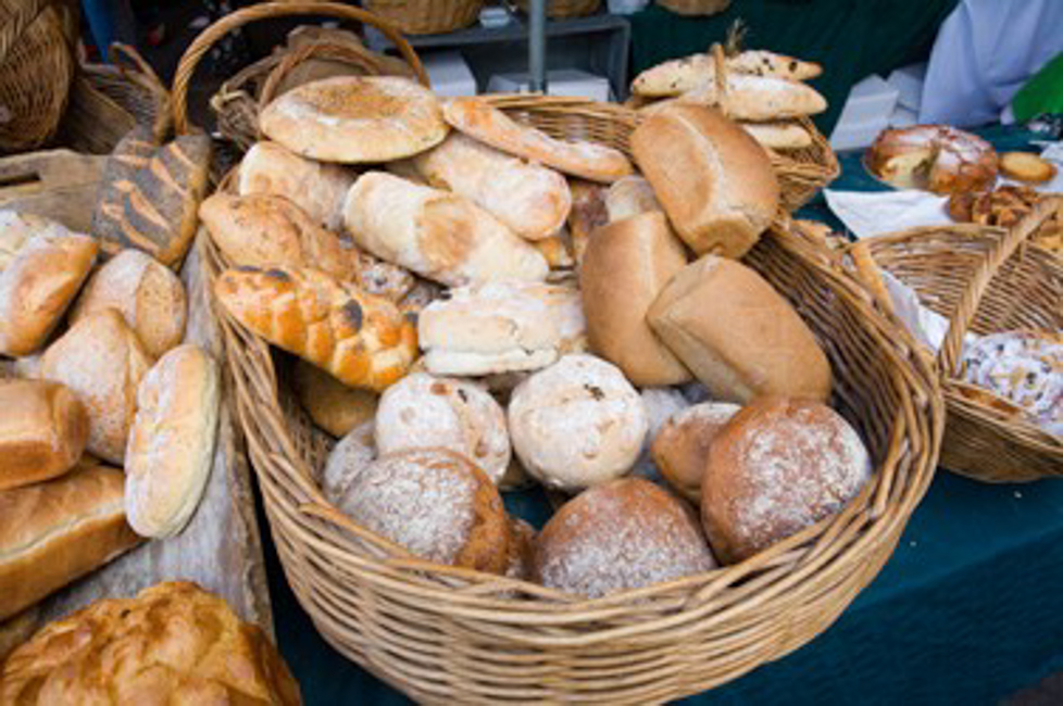 Some artisanal breads at Borough Market, Roland's favourite area in London