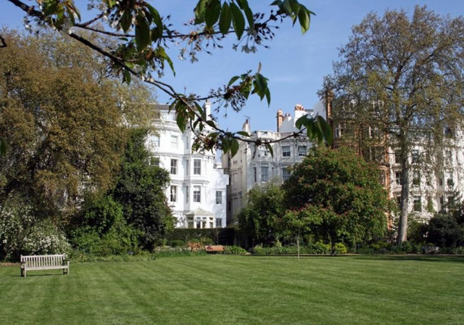 View of Kensigton Park Gardens from Ladbroke Square, Notting Hill