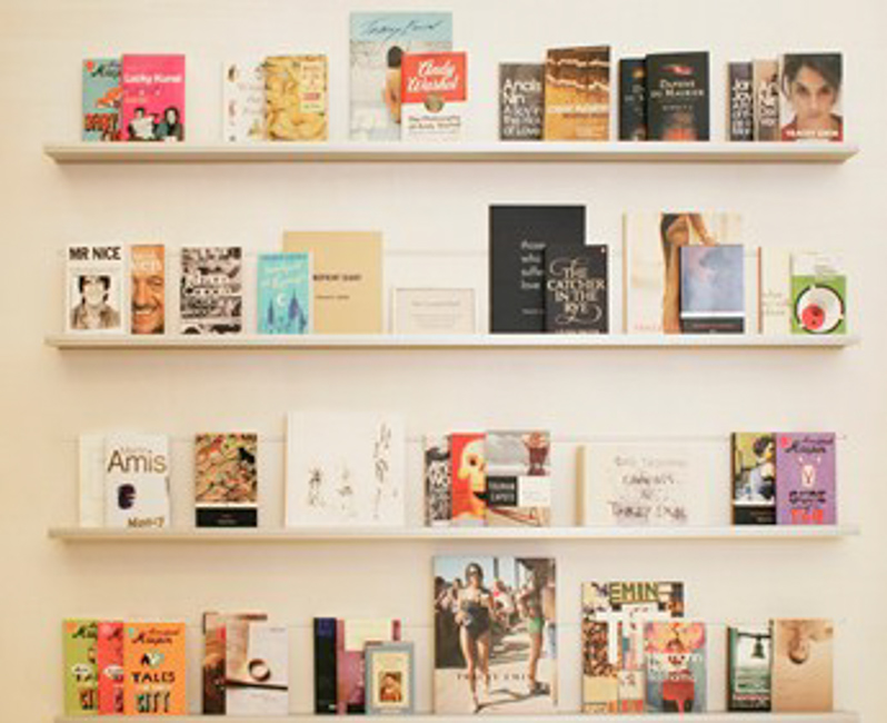 "From Flaubert to Spinoza: Tracey Emin's ""Curated Shelf"""